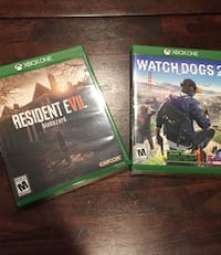 XBOX ONE GAMES: Resident Evil 7 Biohazard & Watch Dogs 2