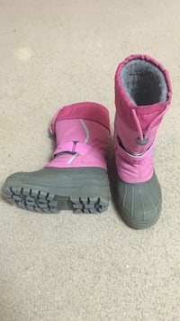 pair of pink-and-gray duck boots ,kids size 12  (L.L. Bean) .. Springfield, 22152