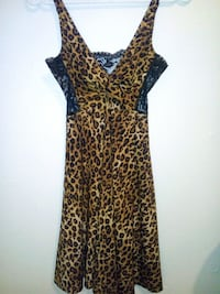 brown and black leopard print sleeveless dress Winnipeg, R2V 0L5