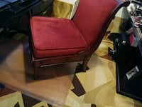 brown wooden framed red padded armchair Washington, 20019