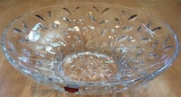 Beautiful Brand New Lorenzo RCR Crystal Laurus cut clear Crystal round bowl 2250 mi