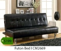 black leather tufted sectional sofa La Mirada, 90638