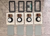 4 x Realistic Wall Ceiling Mount Speakers! New Freedom, 17349