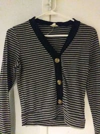black and white stripe button-up jacket Rancho Cucamonga, 91730