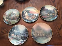 Thomas kinkade collectible art plates home decor  St Catharines, L2N 4H5