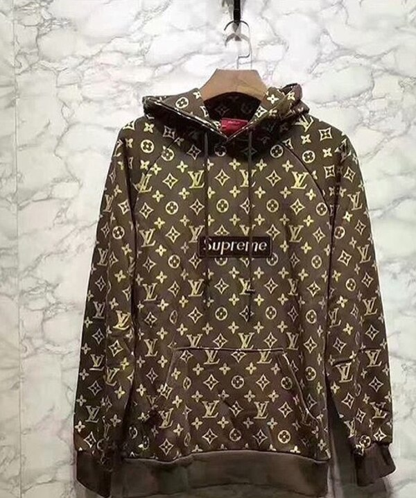 522502baf0a6 Used Supreme X Louis Vuitton monogram canvas pull-over hoodie jacket for  sale in Miami - letgo