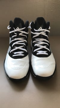 pair of white-and-black Adidas basketball shoes Bozeman, 59715