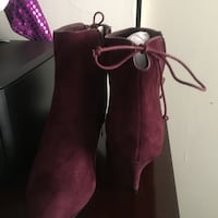 Burgundy shoe boots To Complete an Outfit Owings Mills, 21117