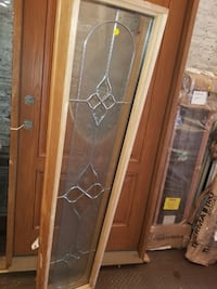 Stained glass sidelight for door window  Kingston