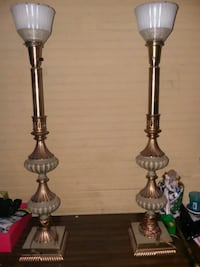 two brass-colored table lamps Sumter, 29150
