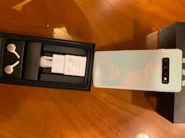 Samsung Galaxy S10. New, Prism White, unlocked, never used.