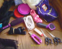 Collection of dog walking gear (leashes, brushes, bowls, etc.) Arlington