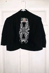 Half sleeve black cardigan