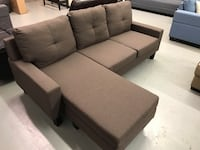 Brand new brown fabric sectional sofa warehouse sale  多伦多, M1S 4T6