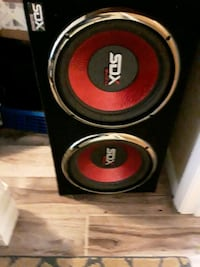2 - 12 w black and red Dual subwoofer DeLand, 32720