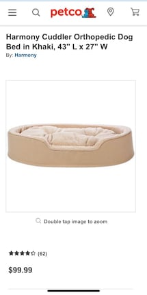 "Orthopedic Dog bed!!! 43""X 27"" Brand new! Never used very soft!!!"