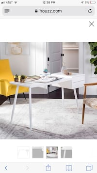 Desk. Mid century style. White. Great condition   Los Angeles, 90291