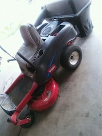 red and black ride-on mower 1369 mi
