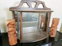 Antique mirror and tiki bookends  Lancaster, 93536