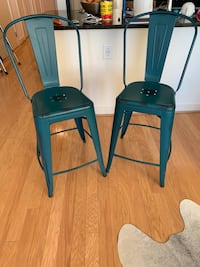 Two teal bar stools Washington, 20002