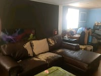 black leather sectional sofa Calgary, T2V 0B7