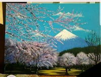 Handpainted Mt.Fuji 24x18 inches acrylic painting  Vaughan, L4K 4W1