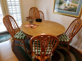 Kitchen table with 6  chairs  includes table top protector