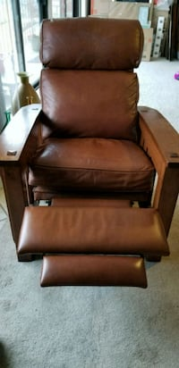 brown leather padded glider chair Signal Hill