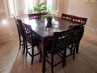 Wood Dining Table + 8 Chairs Toronto, M4P 1E4
