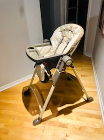 High chair leather with wheels