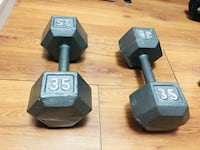 two black fixed weight dumbbells Toronto, M2M 0B4