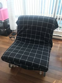 Black-and-white plaid sofa bed Vancouver