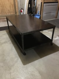 Cool industrial coffee table on wheels West Bridgewater, 02379
