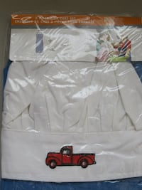 Giftable KIDS CHEF APRON AND HAT SET FOR BOYS BLUE NEW IN PACKAGE