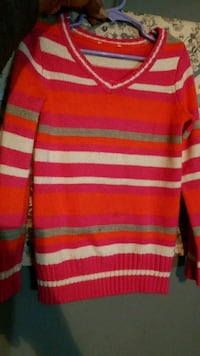 Colorful girls sweater size medium