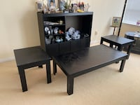 Buffet black colour, one middle table and two side tables(4 pieces) Markham, L3R 0E8