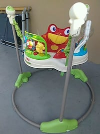 baby's white and green Fisher-Price jumperoo Fort Lauderdale, 33315