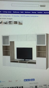 white wooden entertainment center (tv not included) Los Angeles, 90291