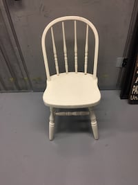 white wooden windsor armless chair North Vancouver, V7K 2H4