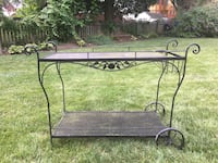 Vintage Woodard wrought iron bar cart