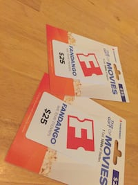 2 $25 Fandango Movie Passes   Oakton, 22124
