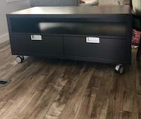 Espresso color tv stand with two drawers. Great condition with one dent in the back  Pick up only  24x47x21h Edmonton, T5R