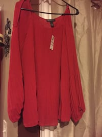 NEW with tags INC. Red blouse
