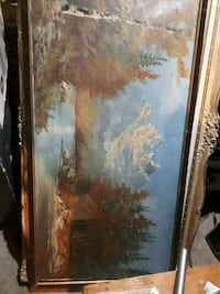 brown wooden framed painting of trees St. Catharines, L2S 1Z3