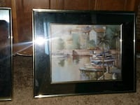 painting of house with brown wooden frame Muskegon, 49442