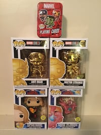Lot of 4 Funko Marvel Pop Figures plus Playing Cards! Cambridge, N1P 1A8