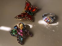 Vintage Butterfly Brooches Sterling Silver Ring San Leandro, 94579