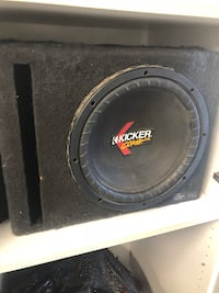 "12"" kicker subwoofer with ported box  Bakersfield, 93312"