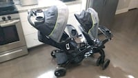 Double seat toddler stroller