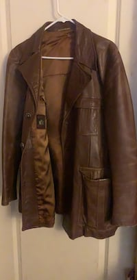 brown leather button up jacket South Gate, 90280